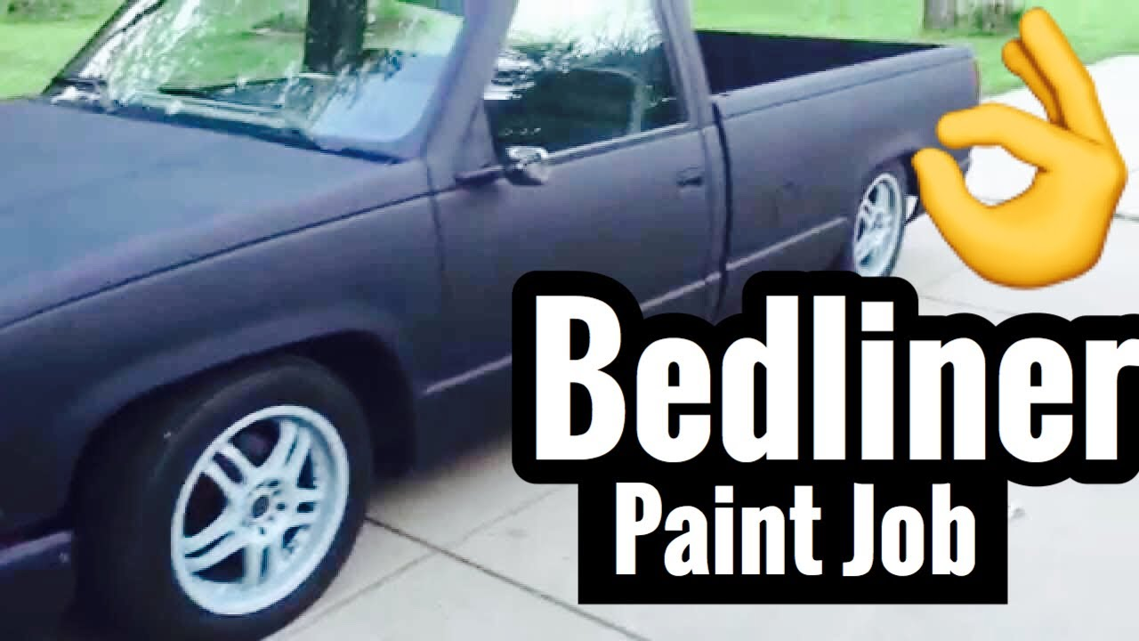 "silverado bedliner paint job - ""raptor spray"" - youtube"