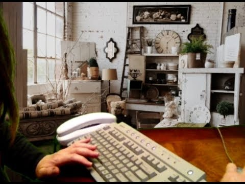 Garage Sale Day with Gramma Relaxing, Typing out Travel Route, Newspaper ASMR Soft Spoken Roleplay