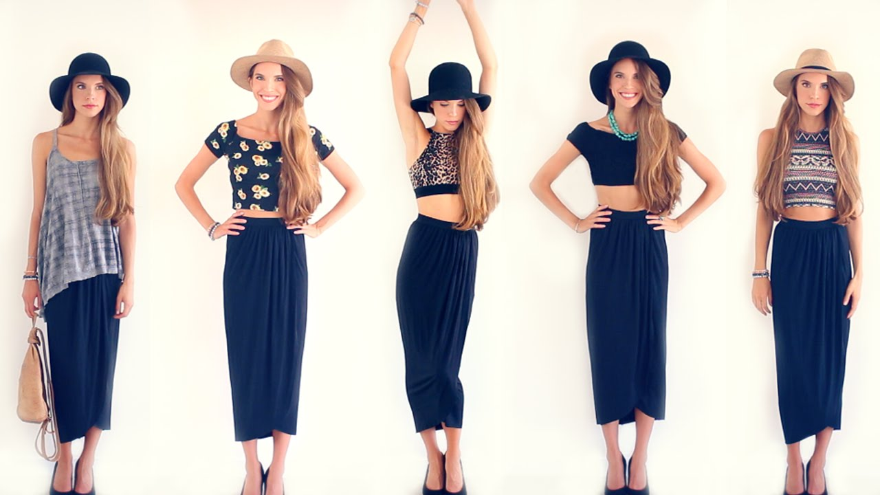 What to wear with a black maxi dress