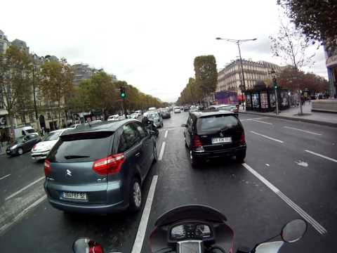 Place Charles de Gaulle and the Champs Elysees Oct 2011