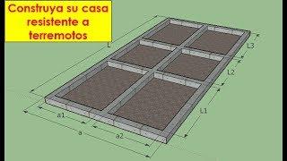 Como construir una casa de uno o dos pisos sismoresistente, 1° parte Cimentaciones