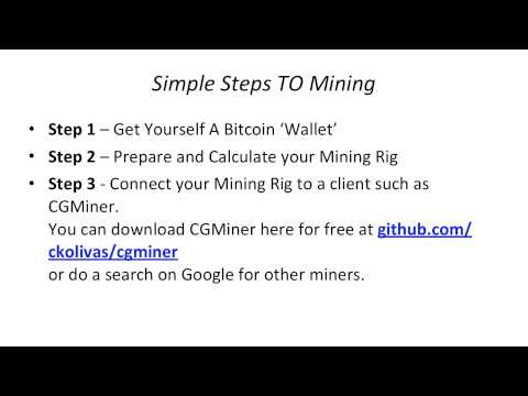 Bitcoin Mining - Simple Steps