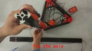 flsun kossel delta 3d printer assembly video step 5 assemble x y and z axis