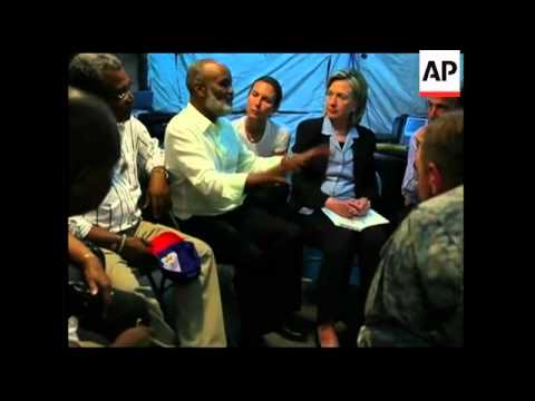 WRAP US Sec of State Clinton in Haiti, news conference