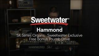 Hammond SK Series Organs Sweetwater Exclusive Free Bonus Thumb Drive