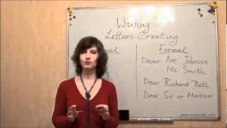 Письмо (ЗНО, английский): Как писать письма, видеоурок(2)