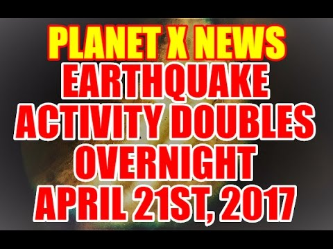 "NIBIRU / PLANET X NEWS ""EARTHQUAKE ACTIVITY DOUBLES OVERNIGHT"" April 21st, 2017"