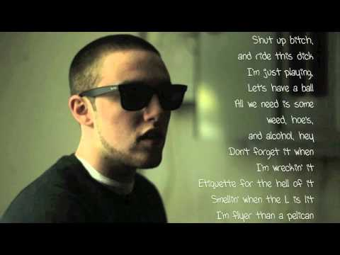 Knock Knock - Mac Miller Lyrics Video (HD)