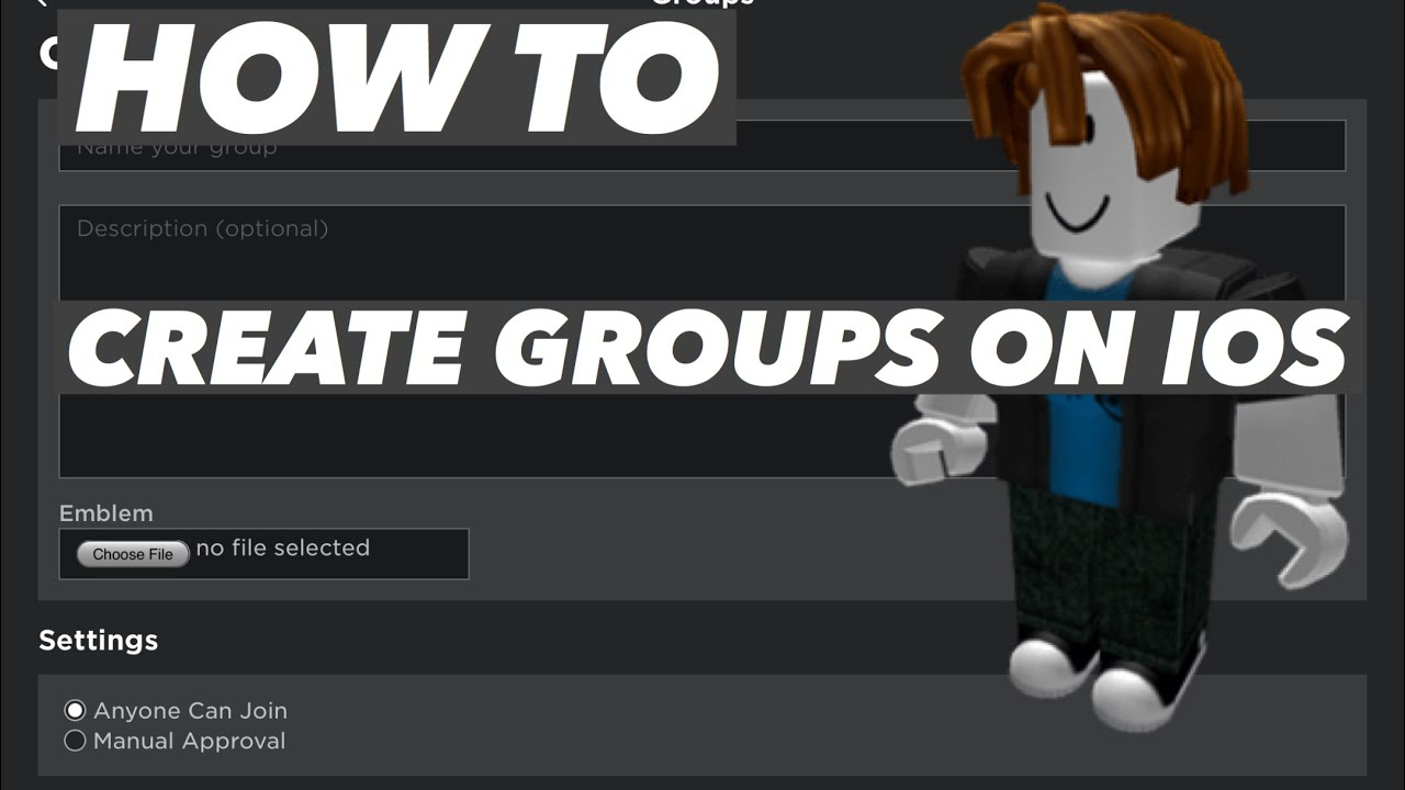 How To Create Groups In Roblox Without How To Make Groups In Roblox Mobile Iphone Ipad 2020