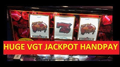OMG !!!!! MY BIGGEST VGT JACKPOT EVER !!!! $10 BET RUBY RED SLOT !!! I MAKE MONEY MOVES !!!!