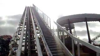 Avalanche Ride Front Seat POV Blackpool Pleasure Beach (on an old Nokia N95!!)