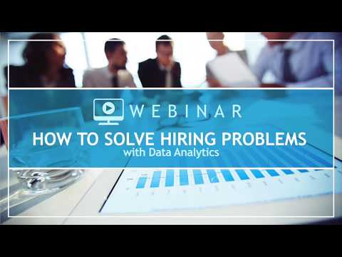 How to Solve Hiring Problems with Data and Analytics