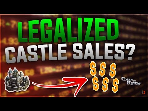 CLASH OF KINGS TO LEGALIZE CASTLE TRADING!!! THIS COULD BREAD NEW LIFE BACK TO THE GAME