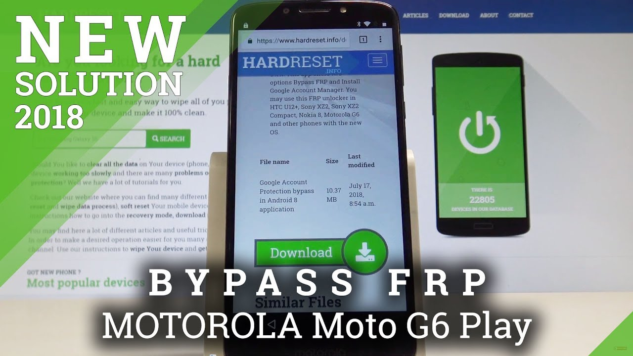 How bypass Google Account protection in MOTOROLA Moto E5