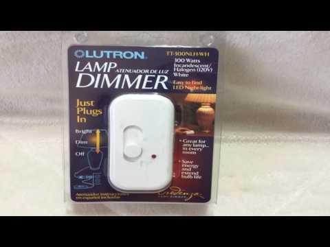 Lutron TT 300NLH BL Credenza Lamp Dimmer Black