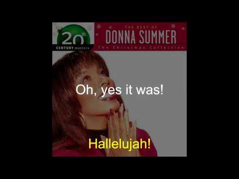 Donna Summer - O Holy Night LYRICS - Remastered