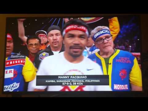 Intro Pacquiao  vs Mayweather