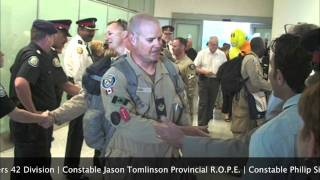 Toronto Police Officers Return Home After Training Police | Serving Community In Afghanistan