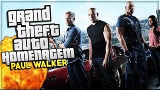 GTA V - Encontro Velozes e Furiosos & Homenagem Paul Walker! - Especial 5K