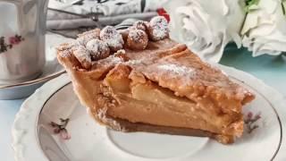 Яблочный пирог с вареной сгущенкой