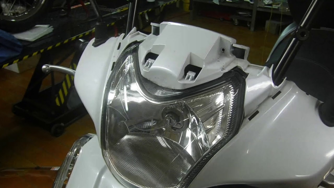 Cambio Luce Faro Anteriore Honda Sh 300 I Sh 150 Sh 125