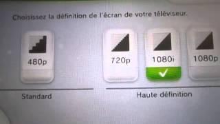 Réglage parramètre affichage WiiU