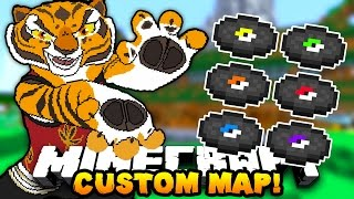 Minecraft KUNG FU PANDA CUSTOM MAP! (Collect Special Disks!) w/PrestonPlayz