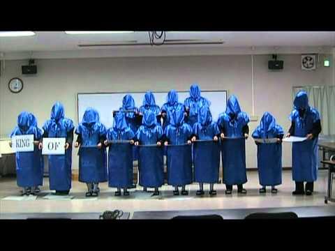 Japanese High School Students Perform As Silent Monks- Hallelujah Chorus