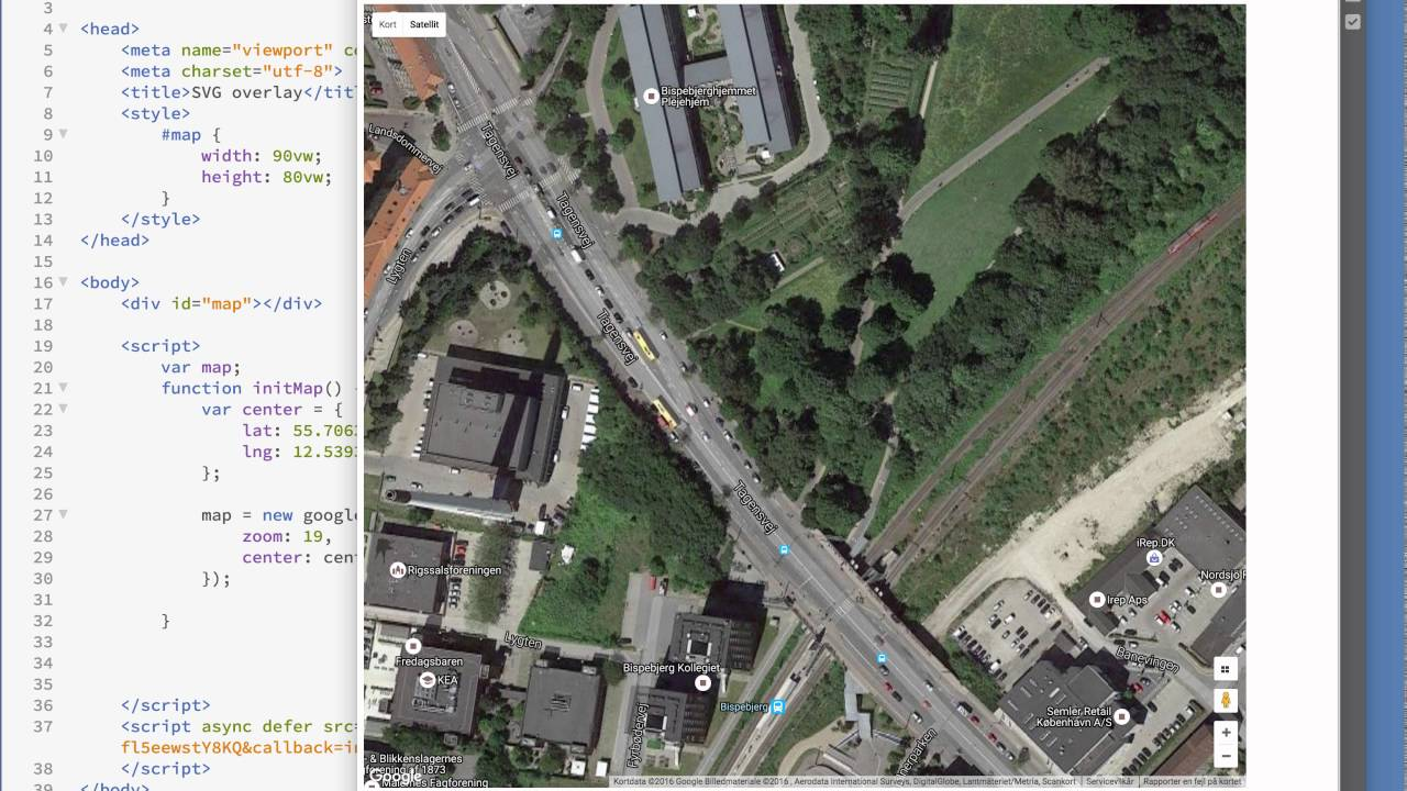 Google Map Svg Overlay