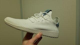 ADIDAS PHARREL TENNIS HU UNBOXING!! (Whitest shoes ever?)