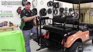 Trailer Hitch And Safety Grab Bar For Golf Cart Rear Seat | How To Install