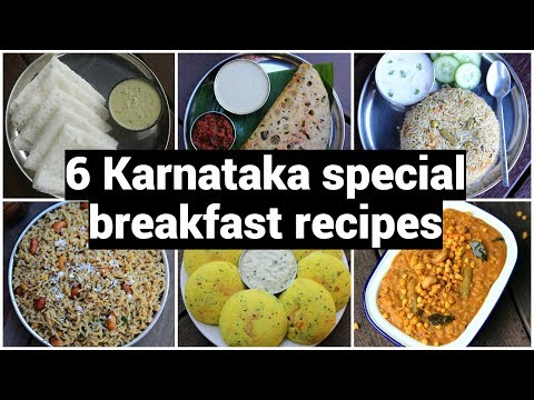 6 Karnataka Special Breakfast Recipes | ಬೆಳಗಿನ ತಿಂಡಿಗಳು ಮಾಡುವ ವಿಧಾನ | Quick & Easy Breakfast Recipes