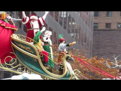 Santa Claus in the 90th annual Macy's Thanksgiving Day Parade New York City USA
