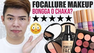 AFFORDABLE SHOPEE MAKEUP!!! FOCALLURE REVIEW (SULIT NA SULIT!!!) | Kenny Manalad