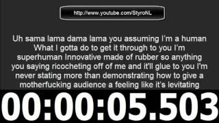 Eminem - Rap God spits 100 words in 16 seconds [Amazing :o]