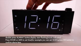 CR1001 projection clock radio video guide