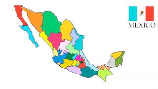 How to draw Map of Mexico // Mexico Map