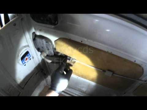 VW T2: Sliding Door Inside Release Cable Adjustment