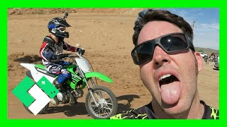 I'M SO WEAK! DIRT BIKE RIDING AT THE TRACK (Day 1604) | Clintus.tv