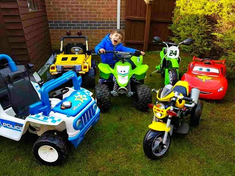 Thumbnail: HUGE POWER WHEELS COLLECTIONS Ride On Cars for Kids Compilation Disney Cars