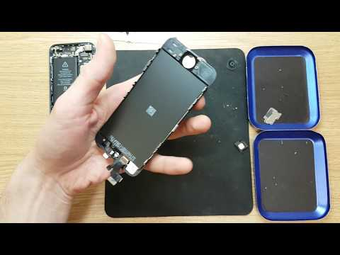 Apple iphone 5g display touchscreen panel replacement and clean phone