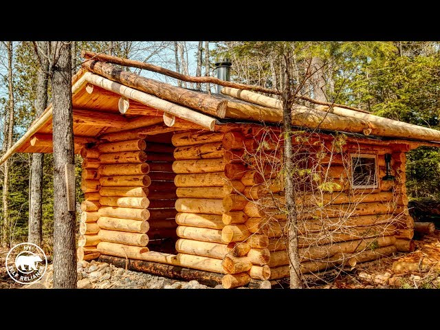 The Off Grid Log Cabin Sauna - Wood Floor and What's the Roof Frame For?