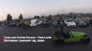 Cars and Coffee Folsom Time-Lapse - 1/25/2020
