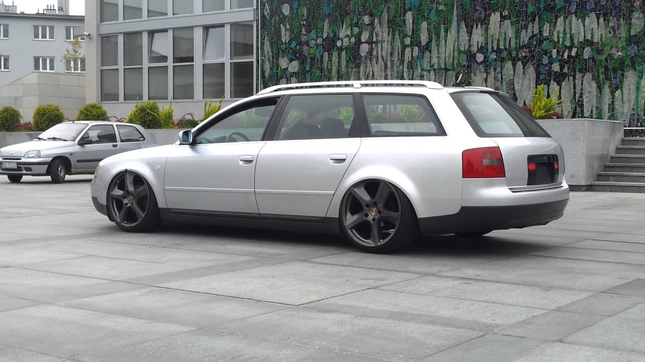 Audi A6 Air Ride Porsche Wheels Youtube
