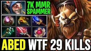 Don't Pick Meepo against ABED - WTF 29 Kills Earthshaker 7.22 Dota 2