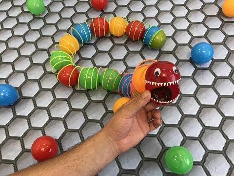 Slither.io. Monster Worm. Cardboard Game. DIY