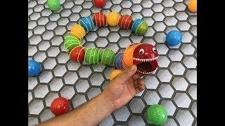 Slither.io. Monster Worm. Cardboard game. DIY