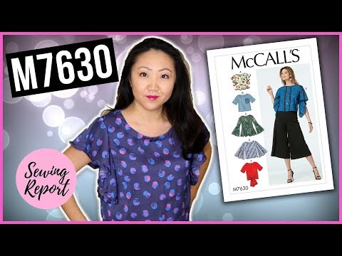 Sew With Me! McCall's M7630 Misses' Tops 👚 Easy Sewing Pattern | SEWING REPORT