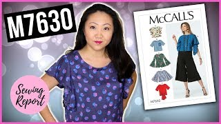 Sew With Me McCalls M7630 Misses Tops  Easy Sewing Pattern  SEWING REPORT