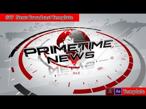Free After Effects Intro Template #87 : NEWS Broadcast Template For After Effects